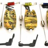 Avertizor pescuit - Set 5 Avertizori TLI 07 camou Marca Oxygen Si 5 Swingeri Led