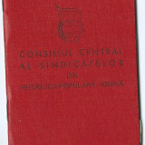 Pasaport/Document, Romania de la 1950 - Carnet de membru de sindicat (1959)