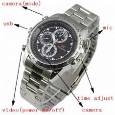 Gadget supraveghere - Ceas de mana cu camera spion DVR camera video, foto HD