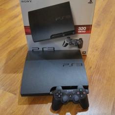 PlayStation 3 Sony Slim(320 GB)+2 Jocuri(God of War 3, Uncharted 2)