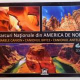 PARCURI NATIONALE DIN AMERICA DE NORD, MARELE CANION, CANIONUL BRYCE, CANIONUL ANTELOPE, 2013 - Carte Geografie