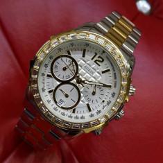 Ceas de Dama Guess Ladies Silver Gold W0016L6 - Ceas dama Guess, Sport, Quartz, Inox, Inox, Cronograf