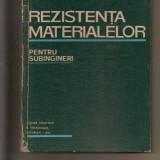Carte tehnica - Rezistența Materialelor pentru subingineri, I. Tudose