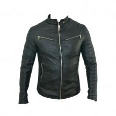 Geaca barbati Zara, Piele - Geaca Zara Man Casual David Beckham Imblanita SlimFit Cod Produs D351