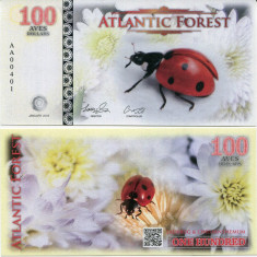 ATLANTIC FOREST- 100 AVES 2016- UNC!! - bancnota america
