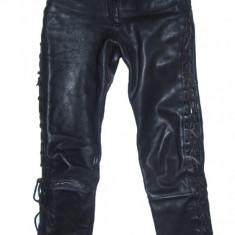 Pantaloni dama, Lungi, Piele - PANTALONI PIELE NATURALA - (MARIME: 28) - Talie = 73 CM / Lungime = 112 CM