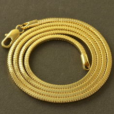 Lantisor placate cu aur - Lant masiv 9K GOLD FILLED