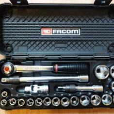 Scule de mana - FACOM PL 618 trusa tubulare cu BLOCAJ marime 1/2 tubulare 10 - 32 impecabila!