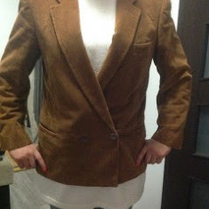 SACOU CONFRAV XL - Costum barbati, Marime: 46, Culoare: Maro, 1 nasture, Marime sacou: 46, Normal