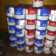 Vand tutun Bond la cutie 80 gr.roșu si albastru 36 ron.calitate excepțională.