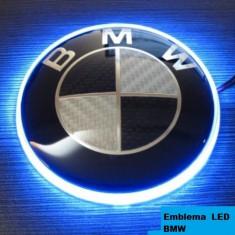 Emblema BMW capota carbon Luminata Led Contur 8, 2 cm - Embleme auto