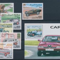 Timbre straine, Nestampilat - Somalia 1998 masini - serie si colita nestampilate MNH