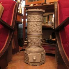 Metal/Fonta - Soba antica de fonta, piesa veche decorativa si functionala, Godin 73 cm