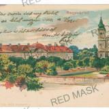 1089 - L i t h o, ORADEA - old postcard - used - 1898