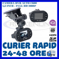 CAMERA VIDEO DVR AUTO MARTOR ACCIDENT C600, FULL HD 1080p, SENZOR G - Camera video auto ZDM, 32GB, Wide, Single, Senzor imagine MP CMOS: 12
