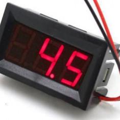 VOLTMETRU 0 - 100V DC ( curent continuu) + cabluri de conectare