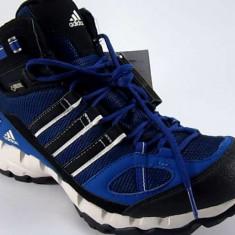 Ghete barbati - Ghete Adidas Outdoor Ax 1 Mid GTX, culoare albastru/ alb