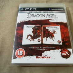 Joc Dragon age origins ultimate Edition, PS3, original, alte sute de jocuri! - Jocuri PS3 Electronic Arts, Actiune, 18+, Single player