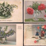 Lot 4 c.p.ilustrate, tematica flori, Fotografie, Europa