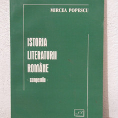 Studiu literar - COMPENDIU.ISTORIA LITERATURII ROMANE -MIRCEA POPESCU