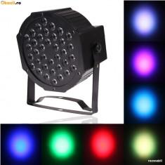 Proiector Scaner joc lumini DMX 7 canale Flat LED Par Light RGB 36 LED Ventilato - Lumini club
