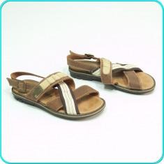 DE FIRMA _ Sandale DIN PIELE, aerisite, design deosebit, MELANIA _ fete | nr. 32 - Sandale copii Melania, Culoare: Maro, Piele naturala