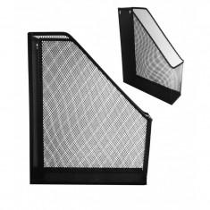 Suport documente vertical plasa metalica - Culoare: Negru (cod produs: KN-1324/N) - Masina de perforat