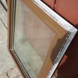 Vand geam rabatabil, de culoare maro, din termopan - Fereastra