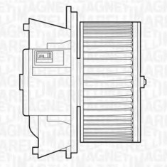 Ventilator, habitaclu FIAT PUNTO 1.2 60 - MAGNETI MARELLI 069412503010 - Motor Ventilator Incalzire
