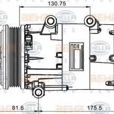 Compresor, climatizare FORD GALAXY 2.0 TDCi - HELLA 8FK 351 334-051 - Compresoare aer conditionat auto