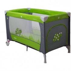 Patut Pliabil Samba - Coto Baby - Gri/Verde - Patut pliant bebelusi