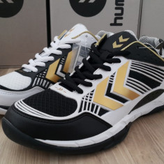 Adidasi originali sport barbati HUMMEL - running- handbal - 41, 44 - Adidasi barbati Hummel, Culoare: Alb, Piele sintetica
