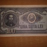 100 Lei 1952 Serie Albastra Aunc Foarte Frumoasa