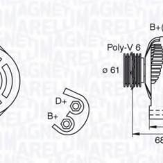 Generator / Alternator OPEL SIGNUM 1.9 CDTI - MAGNETI MARELLI 063377492010 - Alternator auto