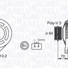 Generator / Alternator RENAULT KANGOO 1.4 - MAGNETI MARELLI 063310506010 - Alternator auto
