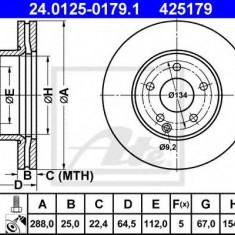 Disc frana MERCEDES-BENZ C-CLASS limuzina C 180 CDI - ATE 24.0125-0179.1 - Discuri frana REINZ
