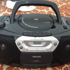 CD player - PHILIPS AZ 1005, CD RADIO CASETOFON RECORDER, FUNCTIONEAZA .