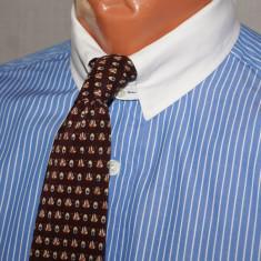 Camasa barbati KARL LAGERFELD albastra cu guler alb tab-collar marimea 38, Culoare: Albastru, Maneca lunga