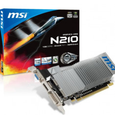 Placa video MSI NVIDIA N210-MD1GD3H/LP, GT210, PCI-E, 1024MB DDR3, 64bit, 589MHz, 1000MHz, VGA, DVI, HDMI, low profile, Heatsink bulk - Placa video PC Msi, PCI Express, 1 GB