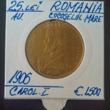 25 lei 1906 - Cocoselul Mare - Aur - Moneda Romania
