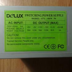 Sursa PC Delux 400W defecta pentru piese, 400 Watt