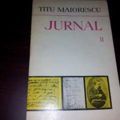 JURNAL-TITU MAIORESCU VOL II/ TD - Roman