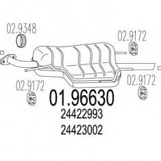 Toba esapament finala OPEL ASTRA G limuzina 1.6 - MTS 01.96630 - Toba finala auto