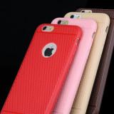 Husa slim silicon iphone 6 plus, 6s plus cu model anti alunecare - rosu - Husa Telefon