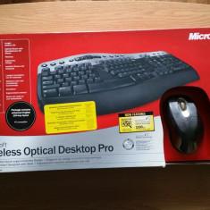 Kit Tastatura + Mouse Microsoft Wireless Optical Desktop Pro 2.0