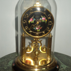 Superb ceas de colectie in glob din sticla si fir de torsiune cu intoarcere - Ceas de semineu