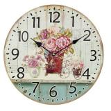 Ceas de lemn de perete Rosarium - Ceas de perete