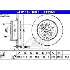 Disc frana TOYOTA VERSO AUR2 ZGR2 PRODUCATOR ATE 24.0111-0168.1 - Discuri frana