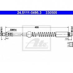 Furtun frana PEUGEOT 306 hatchback 7A 7C N3 N5 PRODUCATOR ATE 24.5111-0495.3