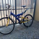 Mtb full suspention - Mountain Bike DHS, 17 inch, 26 inch, Numar viteze: 21